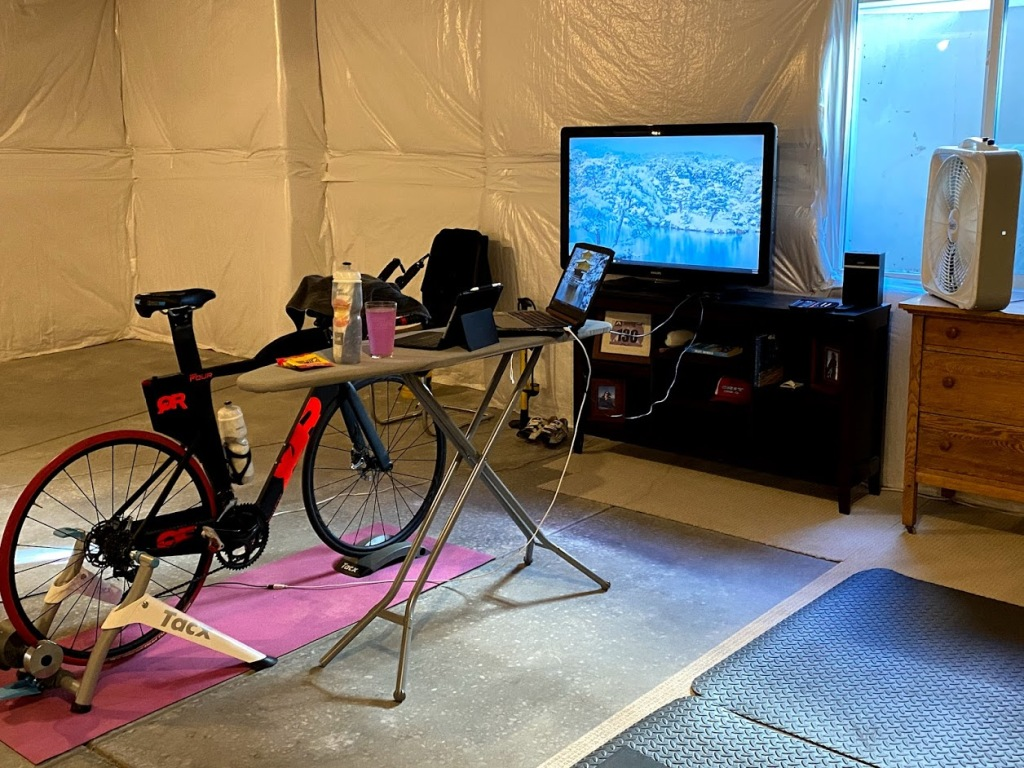 bike portion of the pain cave